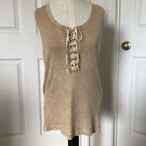 One World Lace Up Tank Top
